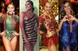 Famosas capricham nos looks para os ensaios do Carnaval 2016. Veja fotos!