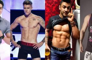 Cantores como Luan Santana e Justin Bieber transformaram o corpo. Veja fotos!