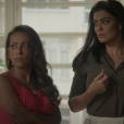 Dorinha (Samantha Schmutz) vê Lili (Vivianne Pasmanter) saindo da casa de Rafael (Daniel Rocha) e conta para a irmã, que questiona a empresária se os dois dormiram juntos