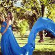 Jéssica Costa fez diversas fotos em ensaio fotográfico para registrar a gravidez