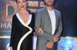 Guilherme Winter e Giselle Itié vão juntos à pré-estreia de 'Os Dez Mandamentos'