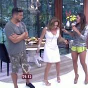Cissa Guimarães e André Marques aprendem a dançar o hit 'Paredão Metralhadora'
