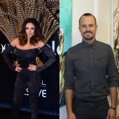 Carol Celico, ex-mulher de Kaká, e Paulo Vilhena trocam beijos no Baile da Vogue