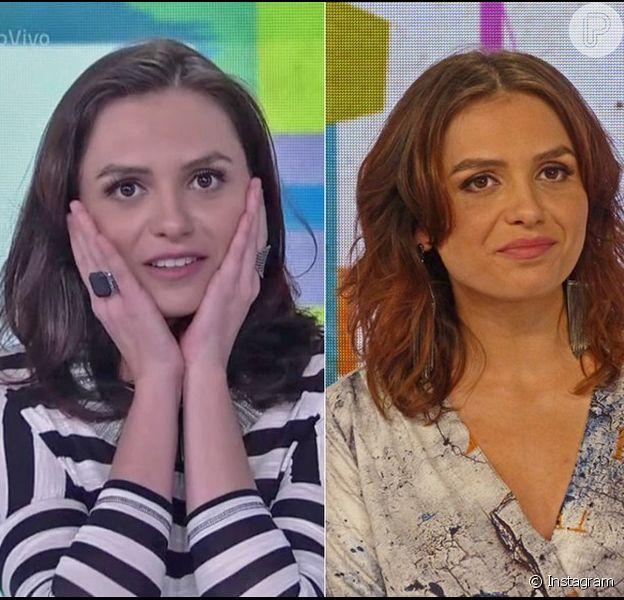 Monica Iozzi mostrou seu novo visual no 'Vídeo Show' desta sexta-feira, 29 de janeiro de 2016