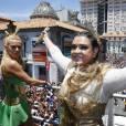 Preta Gil levou seu bloco mais uma vez para as ruas do centro do Rio