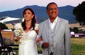 Galvão Bueno se emociona em casamento da filha na Itália; confira fotos