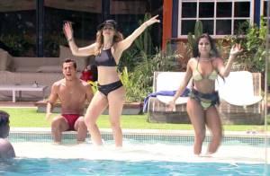 'BBB16': Ana Paula e Munik sambam de biquíni na piscina. 'Vou ficar boazuda'