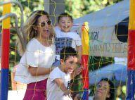 Wanessa se diverte com os filhos João Francisco e José Marcus em passeio no RJ