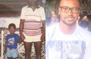 Thiaguinho relembra 1ª visita a igreja na Bahia com foto antiga ao lado dos pais