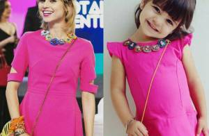 Julianne Trevisol elogia menina fashion que refez look de Lu: 'Fofurinha'