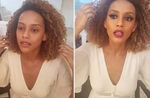 Taís Araújo mostra antes e depois de maquiagem: 'Partiu carnaval, meu povo'