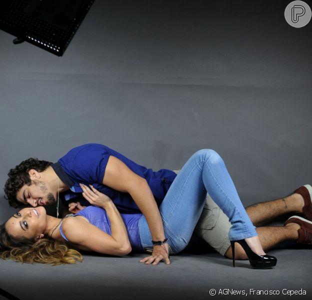 Sabrina Sato e Caio Castro fazem ensaio sensual juntos, em 11 de setembro de 2013