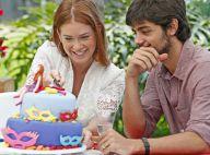 Marina Ruy Barbosa ganha bolo de Felipe Simas no 'Estrelas': 'Fez com amor!'