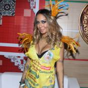 Irmã de Neymar, Rafaella aposta em decote antes de desfilar no Carnaval do Rio