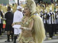 Paloma Bernardi usa fantasia de R$ 70 mil em estreia como rainha de bateria