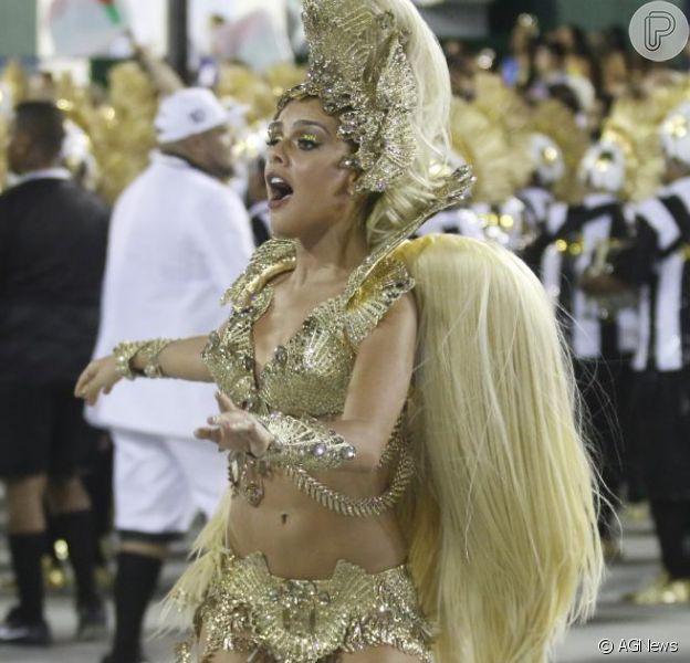 Carnaval: Paloma Bernardi estreia como rainha de bateria da Grande Rio neste domingo, 7 de fevereiro de 2016