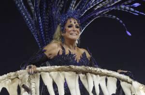 Susana Vieira desfila em carro alegórico no Carnaval da Grande Rio: 'Detestei'