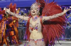 Agatha Moreira estreia no Carnaval do Rio com fantasia discreta: 'Emoção grande'