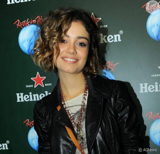 Sophie Charlotte compareceu à segunda noite de shows do Rock in Rio, neste sábado, 14 de setembro de 2013