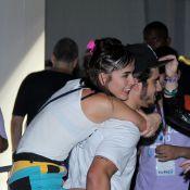 Maria Casadevall curte animadíssima Rock in Rio e termina noite com Caio Castro