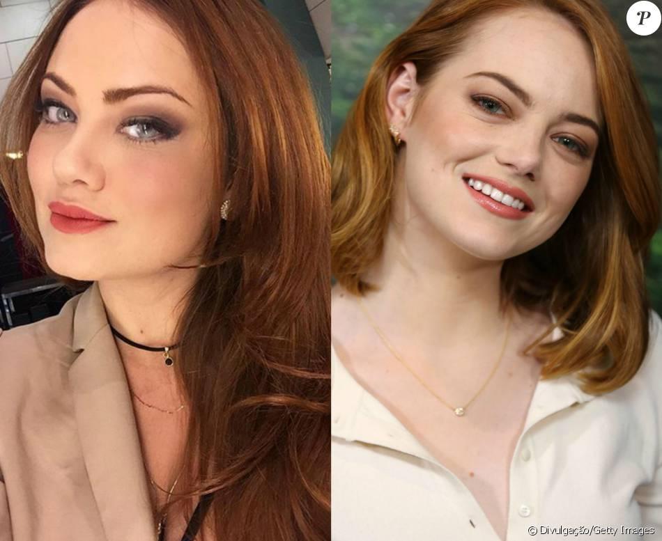 Ellen Rocche adotou o tom ruivo para atuar na novela 'Haja Coração' e se inspirou no cabelo da atriz de Hollywood Emma Stone