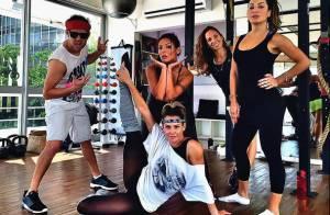 Deborah Secco capricha na pose após aula de dança: 'Viagem no mundo da música'