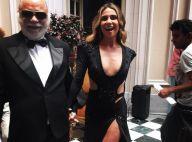 Giovanna Antonelli usa look decotado em cena de 'A Regra do Jogo': 'Gravando!'