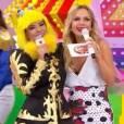 Mara Maravilha e Eliana no programa do SBT no domingo, 06 de março de 2016