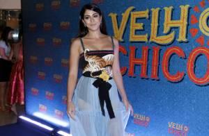 Carol Castro usa look de R$ 38 mil rasgado em festa de novela: 'Probleminha'