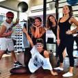 Deborah Secco e Carol Nakamura também frequentam as aulas de dança com Justin Neto