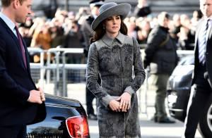 Kate Middleton aposta em casaco de R$ 12 mil para cerimônia em Londres. Fotos!
