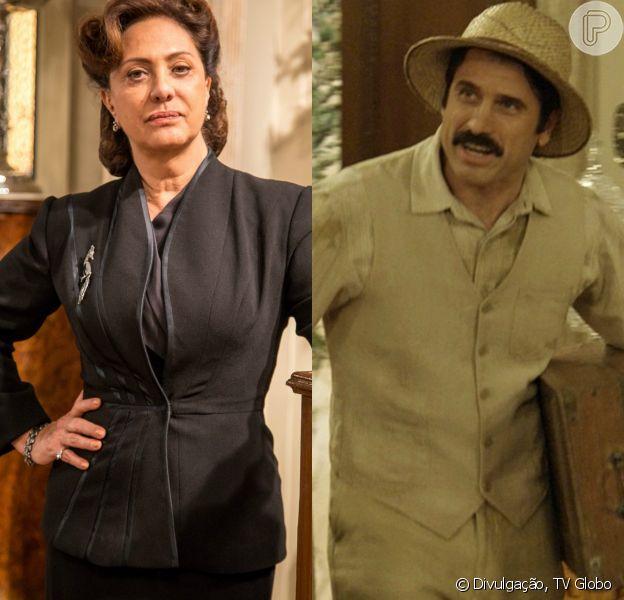 Anastácia (Eliane Giardini) pensa que Ernesto (Eriberto Leão) é seu filho, no capítulo que vai ao ar dia 23 de março de 2016, na novela 'Êta Mundo Bom!'