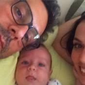 Alexandre Nero e Karen Brusttolin comemoram 3 meses de Noá: 'Aconchego'