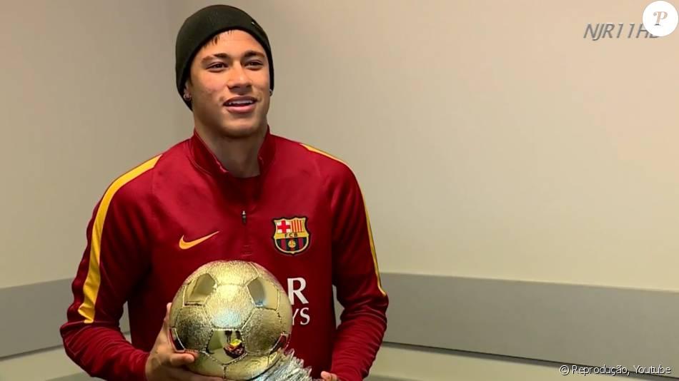 Neymar vence prêmio Samba de Ouro e é elito melhor brasileiro jogando na Europa, em 19 de março de 2016