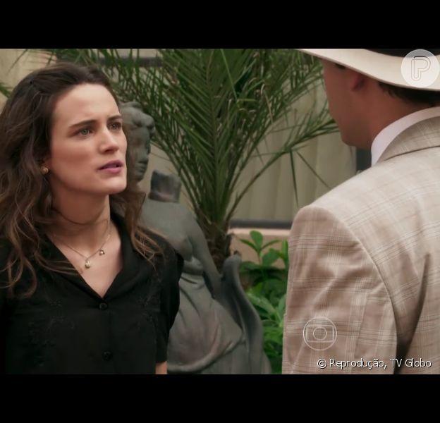 Maria (Bianca Bin) diz a Celso (Rainer Cadete) que descobrirá se Ernesto (Eriberto Leão) é mesmo filho de Anastácia (Eliane Giardini), no capítulo que vai ao ar no dia 1º de abril de 2016, na novela 'Êta Mundo Bom!'