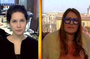 Óculos azuis de Ilze Scamparini ao falar de atentado são criticados: 'Sem noção'