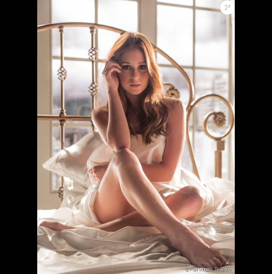 Marina Ruy Barbosa relembra cena de nudez na novela 'Totalmente Demais': 'Eu não estava pelada, não, estava toda cobertinha (risos)'