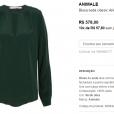 A peça é da grife Animale e pode ser comprada em lojas online por R$ 578