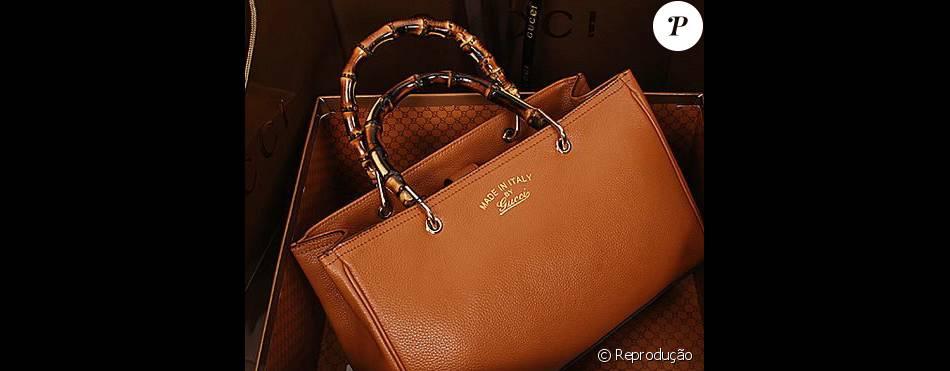 Luma Costa usou uma bolsa Gucci feita em couro de bezerro de R  864 ... d879c1b5f5