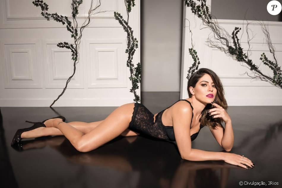 a895c0590 Carol Castro posa sensual em ensaio de lingerie   Me sinto confortável e  feminina