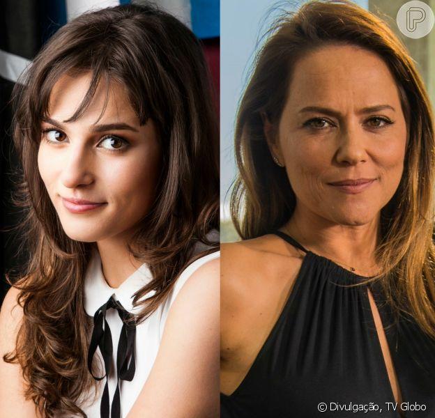 Lili (Vivianne Pasmanter) é flagrada aos beijos com Rafael (Daniel Rocha) por Sofia (Priscila Steinmann), na novela 'Totalmente Demais', a partir de 12 de abril de 2016