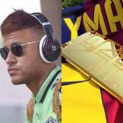 Neymar ostenta capa de ouro de R$ 16 mil em celular e é ironizado na internet