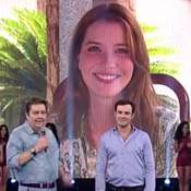 Nathalia Dill se declara para Sergio Guizé no 'Faustão': 'Feliz ao seu lado'