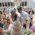 Patrícia (Maria Casadevall) e Guto (Márcio Garcia) se casaram no Edifício Martinelli, símbolo de São Paulo, em 'Amor à Vida'