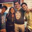 Família Simas em festa: Felipe (à esq.) vai ser papai