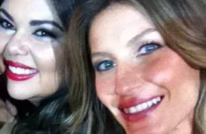 Fabiana Karla tira foto com Gisele Bündchen na SPFW: 'Hoje foi o dia dela'