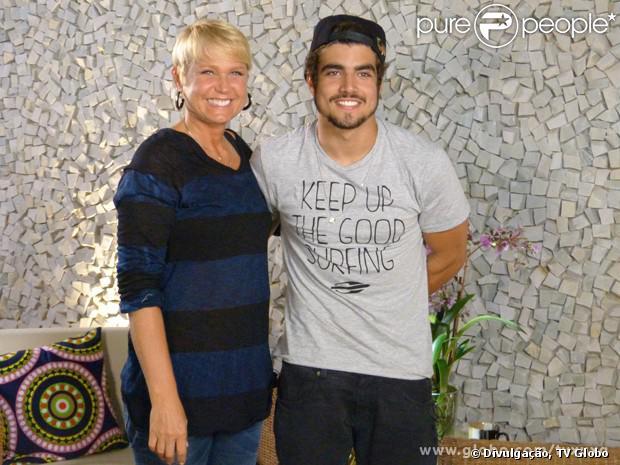 Caio Castro foi o convidado de Xuxa para o 'Papo X', quadro da apresentadora no programa 'TV Xuxa'. O galã falou sobre a sua carreira, as tatuagens e o primeiro beijo, em 9 de novembro de 2013