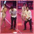 Na noite de 12 de novembro, Caio Castro participou do Prêmio Extra e fez apenas um passinho rápido da coreografia de 'Show das Poderosas'