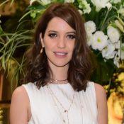 Nathalia Dill muda o visual e exibe cabelo castanho e sem mega-hair em evento
