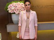 Bruna Marquezine usa look curto em evento e comemora boa forma: 'Essa saia é 34'